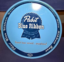 "VINTAGE CLEAN PABST BLUE RIBBON 13"" BEER TRAY FINEST BEER SERVED ANYWHERE"