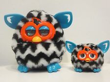 Furby Boom and  Furbling Baby - Black Zig-Zag Waves - Hard to Find