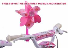 GIRLIE BIKE EXCLUSIVE HANDLEBAR TOY PINK FLOWER FAN HANDLEBAR SPINNING WINDMILL
