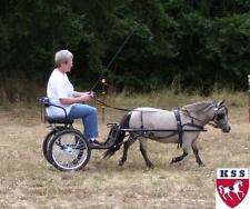 "EZ Entry Small Mini Horse Cart Metal Floor w/45"" Shafts w/Heavy Duty Bike Wheels"
