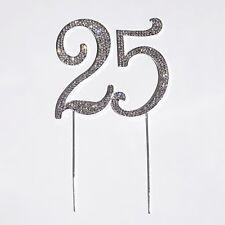25th Birthday Crystal Rhinestone Cake Topper 25 Birthday Party Monogram USA