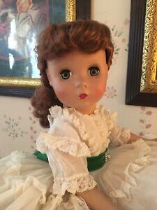 "Vintage Madame Alexander Doll 14"" 1950s Maggie Face Scarlett O'Hara Dress Tagged"