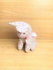 Mothercare Floral Bunny Rabbit Soft Toy Plush Comforter Soother Pink Bow
