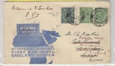 GB South Africa 1931 First Airmail Cover Returned To Sender CDS 5372