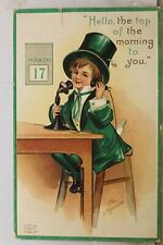 St Patrick's Day Top of the Morning to You March 17th Postcard Old Vintage Card