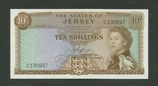 More details for jersey  qeii  10 sh  1963  series c  p7  uncirculated  banknotes
