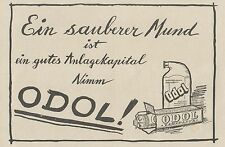 Y4623 ODOL Zahnpasta - Pubblicità d'epoca - 1929 Old advertising