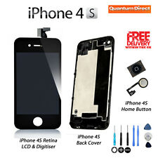 iPhone 4S 4GS Retina LCD & Digitiser + Back + Home Button Replacement Kit  BLACK