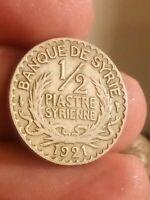 Coin 1921 Syria 1/2 Piastre KM# 68 Syrie Syrienne Kayihan coins