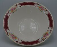 Homer Laughlin L40N6 Serving Bowl Red with Floral Pattern