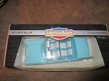 AMERICAN MUSCLE 1:18 SCALE DIE CAST 1957 CHEVY BEL AIR BLUE