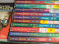 R L Stine SENIORS Series Fear Street  RARE Complete lot / set of 12 books!