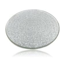 Mirrored Glitter Glass Pillar Candle Table Centre Piece Plate Wedding Stand