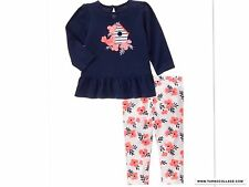 NEW GYMBOREE Girls Spring Summer Outfit  Blooms And Boats Size  18-24 MONTHS