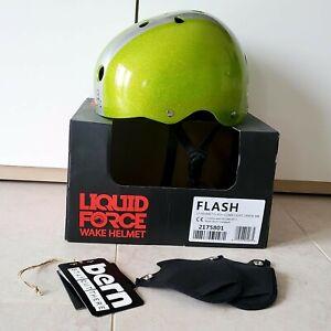 Liquid Force Wake Helmet Flash Comp light green Gr. S Helm wakeboard Kitesurfing