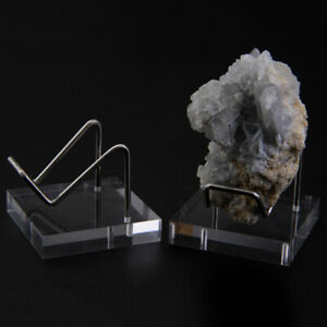 2Pcs Acrylic Display Stand Easel Mineral Crystal Ball Holder Rack Support Decor