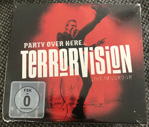 TERRORVISION - PARTY OVER HERE - LIVE IN LONDON New Sealed Cd/Blu Ray Digipak