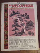 Cheyenne Autumn -   Original 30 x 40   Movie Poster - James Stewart