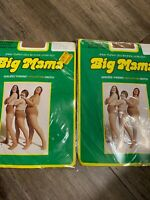 "NIP 2 Vintage ""Big Mama"" XL Pantyhose 230-300lb w reusable Panty"