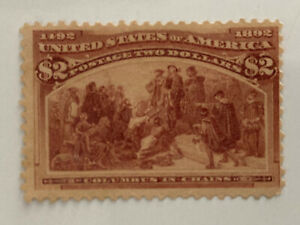"""US Stamp #242 Columbus in Chains $2 Columbian 1893 Mint NG VF NR """"LOOK"""""""