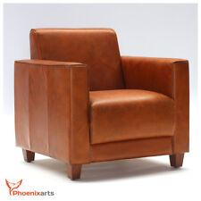 Vintage Echtleder Ledersessel Braun Design Sessel Lounge Antik Clubsessel 541