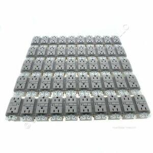 50 New Cooper Gray GFCI Receptacle Outlets 5-15R 15A Bulk VGF15GY - NO SCREWS