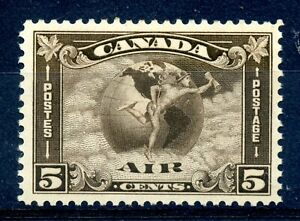 Weeda Canada C2 F/VF MH 5c olive brown 1930 Airmail issue CV $50