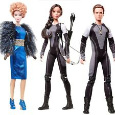 Hunger Games Barbie CATCHING FIRE Doll SET of Three: Katniss Peeta & Effie *NEW*