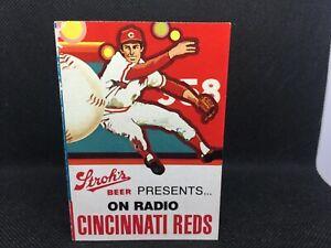 1979 Cincinnati Reds Baseball Error Schedule NO YEAR Stroh's Beer