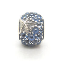 Authentic S925 Sterling Silver Oceanic Starfish Frosty Mint CZ Charm Bead