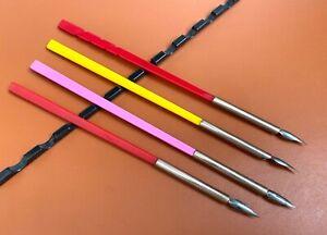 Lot of 4 Ariel Kullock Designed Dip Pens in Coin SIlver & Lucite (#AR3698)