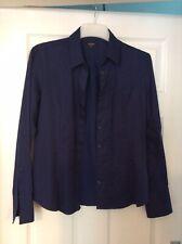 T M Lewin Ladies Fitted Shirt/ Blouse Size 16 Colour Blue 100% Cotton