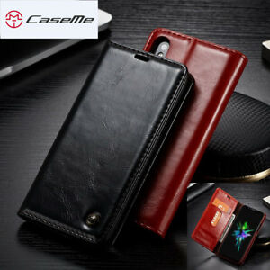Flip Luxury For iPhone X 8 7 6s Plus Magnetic Wallet Leather Case Cover Genuine