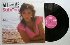 """SABRINA (Maxi 45T 12"""")  ALL OF ME"""