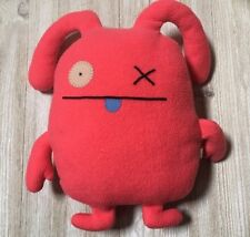 """Classic Ugly Doll OX RARE 12"""" Uglydoll Pink Red Coral HTF Collectible GUC"""