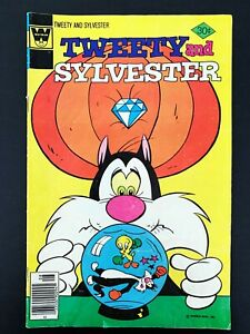 TWEETY AND SYLVESTER #72 WHITMAN COMICS 1977 FN/VF NEWSSTAND EDITION