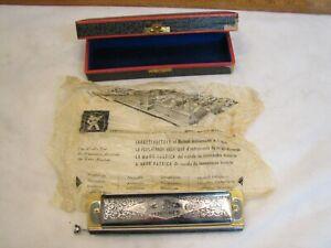 Vintage M. Hohner Super Chromonica Chromatic Harmonica Key of C No. 270 w/Box