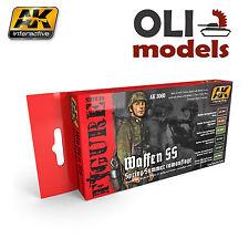 Figure Series Waffen SS Spring/Summer UNIFORM COLORS Set- AK Interactive 3060