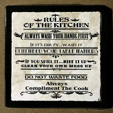 Rules of the Kitchen - Marble Art Tiles