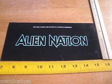 Alien Nation 1988 Movie Premiere Preview ticket for 2 screening VIP