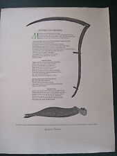 CUTTING THE FIREBREAK - SIGNED BY WILLIAM EVERSON - A BROADSIDE POEM 1 OF 200