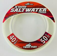 Team Fish Xtreme Saltwater Monofilament Leader 50 Yards Invisible Fishing Line