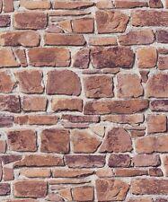 Rasch Carta da parati Aqua Rilievo cucina bagno con texture mattoni pietra 402612-91