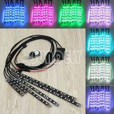 6 Strip RGB LED Strip Light Lamps NEON Remote Kit for Car Auto Motorcycle ATV