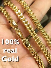 "GOLD Franco Chain 10k 22"" 24.5g 4.50mm Yellow Italy"