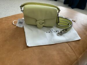 NWT Authentic Coach Pillow Tabby 18 Pale Lime one Gorgeous bag