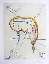 Salvador Dali TEARFUL SOFT WATCH Facsimile Signed & Numbered Art Lithograph