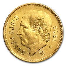 1906 Mexican 5 Pesos Gold Coin - Extra Fine - SKU #85495