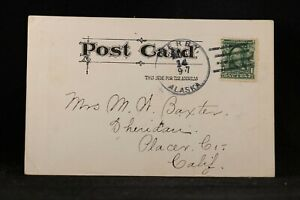 Alaska: Berry 1907 Comic Postcard to California, Type 1 Cancel, DPO