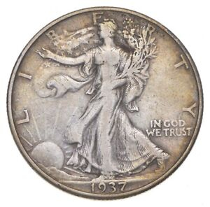 Better 1937-D - US Walking Liberty 90% Silver Half Dollar Coin Set Break *510